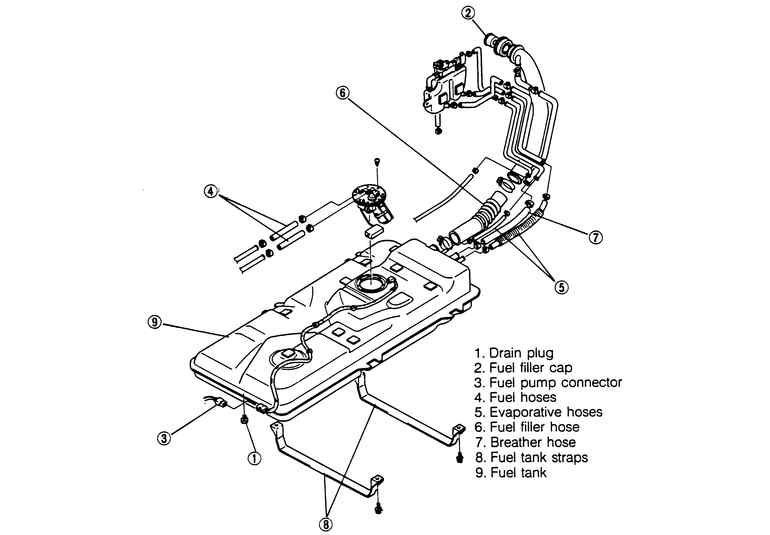 service manual  1995 mazda mpv remove fuel pump module