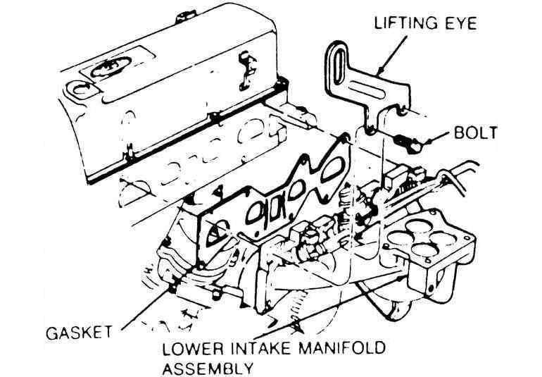 removal installation 2002 Ford Ranger Heater Hose Diagram 6 lower intake manifold removal on the 2 3l engine